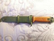 Polish 6h4 Type Ll Knife And Scabbard