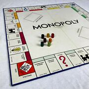 Rare 1935 Original Monopoly Board Game W/ Wooden Game Player Pieces