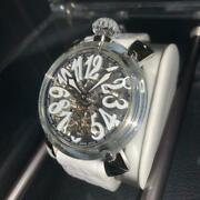 Gaga Milano Crystal 48mm Used Watch Menand039s Rare Excellent Condition From Japan