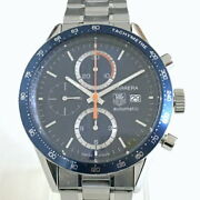 Tag Heuer Carrera Caliber 16 Chrono Cv2015-3 Used Watch Back Scale Auto Menand039s