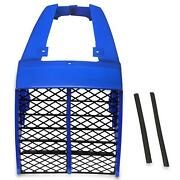 For 1987-2006 Yamaha Banshee 350 Plastic Gas Tank Side Covers + Grill Blue