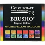 Brusho By Colourcraft 12 Color Brusho Crystal Colour Set 6 Ounce