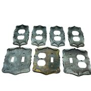 Vtg Lot 7 Sa Metal Amerock Light Switch Outlet Wall Plate Covers Carriage House