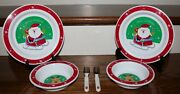 6 Piece Childand039s Merry Christmas Plate Bowl Utensil Set By Geoffrey Inc.toys Rand039us