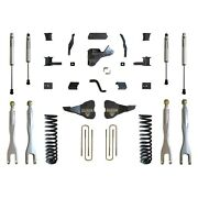 Maxtrac 17-19 Ford F-250/350 4wd 6in/2in Maxpro Elite Coil Lift Kit W/4-link Ar