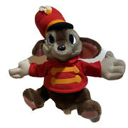 Vintage Disney Timothy Mouse Plush Mouse From Dumbo Rare 10 Sitting