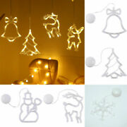 Christmas Xmas Light Ornaments Suction Cup Window Hanging Led Lamp Home Decor