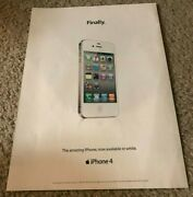 Apple Poster Magazine Ad Art Printed Year 2011 For Iphone 4 White Rare Collector