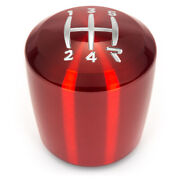 Raceseng Shift Knob Ashiko - Red - Gate 4 Adapter For Fiat 500t Abarth