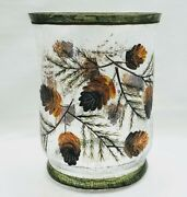 Yankee Candle Crackle Glass Pinecone Candle Holder For Lrg Jar Candle