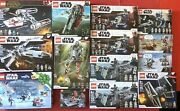 Lego Star Wars Assorted Lot Of 14 Factory Sealed Sets