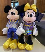 2021 Walt Disney World Parks 50th Anniversary Mickey And Minnie Mouse Plush New