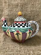 Mackenzie Childs Large Odd Fellow Teapot - Perfect Condition
