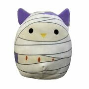 Squishmallow 8and039and039 Holly The Mummy Owl Kellytoy Halloween 2021 Soft Plush Gift