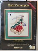 Dimensions Gold Collection Angel Of Glory Christmas Counted Cross Stitch Kit