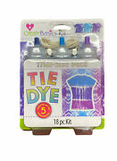 Create Basics Kit Tie Dye 18 Pc Trial-size Pack Blue Turquoise And Purple