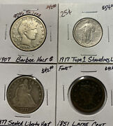 4 Coin Lot W/90 Silver Estate Coins Lot 11