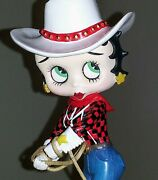 Danbury Mint Betty Boop Cowgirl Figurine King Features Porcelain
