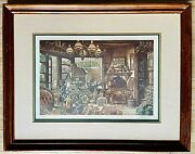 Scott Fitzgerald Fireside Antiques Limited Edition Print Signed And Numbered
