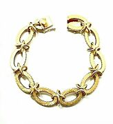 14k Yellow Gold Mid Century Vintage Oval Link Bracelet - Alone Or With Charms