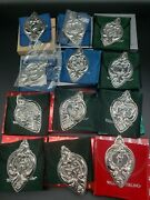 Wallace Grande Baroque Sterling 12 Days Of Christmas Ornament Set 1988-1999