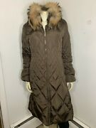 Post Card Womens Fur 95 Goose Down Coat Sz 6..great Condition...no...