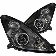 Anzo Projector Headlights With Halo For 2000-05 Toyota Celica Black/clear 121387