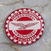 Red And Chrome Eagle Zenith Wire Wheel Chips Emblems Decals Set Of 4 Size 2.25in.