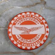 Orange And Chrome Eagle Zenith Wheel Chips Emblems Decals Set Of 4 Size 2.25in.