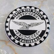 Black And Chrome Eagle Zenith Wheel Chips Emblems Decals Set Of 4 Size 2.25in.