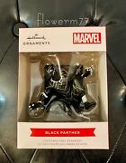 New Hallmark Red Box Collectible Marvel Crouched Black Panther Ornament Black