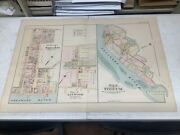 """C. 1880 Map Of Marcus Hook, Linwood, And Tinicum, Pa Hand-colored 21 X 30"""""""
