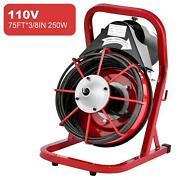 Commercial 75ft 3/8 Electric Drain Auger Drain Cleaner Machine Snake Sewer