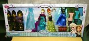 Disney Store Frozen Deluxe Fashion Doll Set Elsa Anna New Packaging Flaws