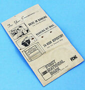 Vintage 1960's Drive In Banking Envelope First National Bank Highland Illinois