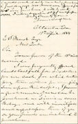 James Leeand039and039s War Horse Longstreet - Autograph Letter Signed 04/19/1884