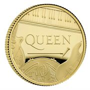 Great Britain Uk 2020 25 Pounds Music Legends Queen 1/4 Oz Gold Proof Coin 1