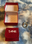 Vintage Tane Orfebres Mexico Silver Ring Sterling Unique Double Size 4 1/2