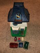 Vintage 1976 Hasbro Weebles Haunted House Halloween Playset With Ghost Furntiure