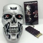 Loot Crate Exclusive Terminator Half Scale Endo Skull And Brain Chip Keychain