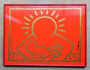 Keith Haring Signed 1987 Poster