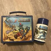 Vintage 1983 Aladdin Masters Of The Universe Plastic Lunchbox And Thermos