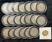 Unc-vf 1921 Roll Of Twenty Morgan Silver Dollars With About Unc Gold Half Eagle