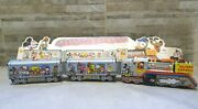 Vintage Disney Express Mickey Mousetin Lithographed Train Argentina 70 Nib