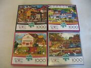 Charles Wysocki Lot 4 1000 Piece Puzzles Includes Posters Free Shipping