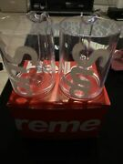 Supreme Heller Mugs Set Of 2 Clear In-hand Brand New Ss20