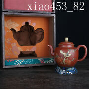 """5.12""""chinese Antique Kangxi In Qing Dynasty Purple Sand Pot Tea Set"""