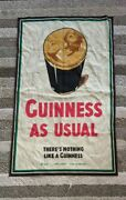 Guinness Beer As Usual Fingal Ireland Fabric Tapestry Flag Mancave 19 X 30 Linen