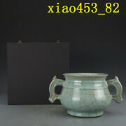 Chinese Antique Southern Song Dynasty Offcial Kiln Green Glaze Incense Burner