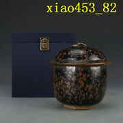 Chinese Antique Porcelain Song Dynasty Cizhou Kiln Spot Cover Can